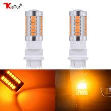 Katur 2 шт. T25 3157 светодиодный лампы для автомобилей стоп-сигнал/стоп-сигнал Янтарный/оранжевый освещение белый красный синий 5630 33SMD светодиодный двойной контакт