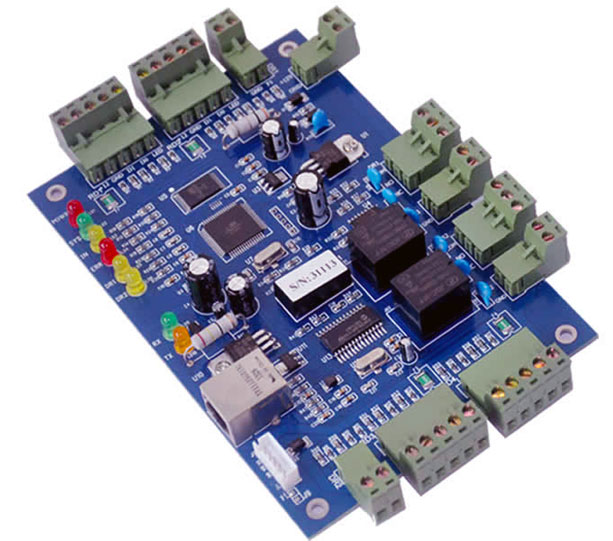 Wiegand blue controller,TCP IP two Door Access Controller,suport multi access function,Fire Alarm etc.sn:B02