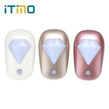 ITimo Home Lighting Diamond High Bright Light Sensor Control LED Night Light EU Plug for Nursery Bedroom Hallway Lamps Wall Lamp