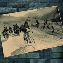 Uno de los ciclos de competición ciclismo carrera bicicleta pegatinas de pared clásicas lienzo Vintage Poster hogar Bar decoración regalo