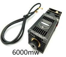 Бесплатная доставка Высокая мощность TRUE 6 Вт 6000 МВт 445нм 450нм Фокусируемый blueLaser модуль лазерный гравер часть DIY лазерная головка с pwm/ttl