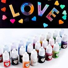 10ML Resin Drop Adhesive Pearlescent Powder UV Coloring Pigment DIY Handicraft Art Suite 25 Colors BFJ55