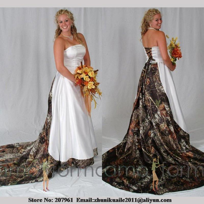 Popular Cheap Plus Size Camo Wedding Dresses Buy Cheap