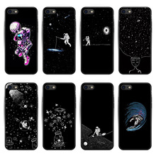 For iPhone 6 6S Plus 7 7Plus 8 8Plus X XS XR XS Max sky Space planet Black and white sun Moon stars TPU soft Silicone Cover Case sun 2015 xs