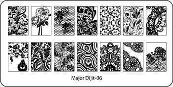 Wholesale 100pcs Excellent Major Dijit Sexy Lace Designs Nail Art Plate Image Plates Stainless Steel Nail Template Image Stencil