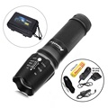 X800 1SET Zoomable 2000LM gun tactical Flashlights torch Waterproof light cree T6 led Camping+1x18650 Battery car charge holster