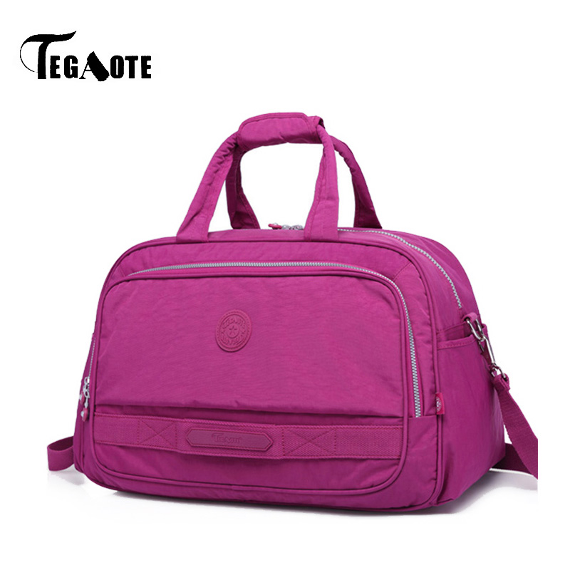 TEGAOTE Large Capacity Women Duffle Luggage Bags Waterproof Men Nylon Travel Bag Brand Design female Casual Tote Weekend Bags tegaote women travel bag large capacity duffle luggage bags big casual tote nylon waterproof female handbags luxury brand bolsas