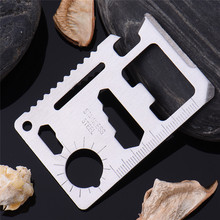 Multi Tools 11 in 1 Multifunction Outdoor Hunting Survival Camping Pocket Military Card Tool Silver Black