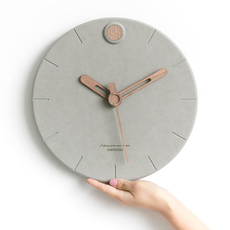 Nordic Uhr Wohnzimmer Mode Uhren Moderne Minimalistischen Kreative Wanduhren Schlafzimmer Wohnkultur Stumm Uhr-in Wanduhren aus Heim und Garten bei  Gruppe 2
