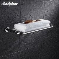 Chrome Finished Bath Accessories Single Tier Bath Towel Shelf Towel Holder Storage Basket Shower Room Bathroom Shelves