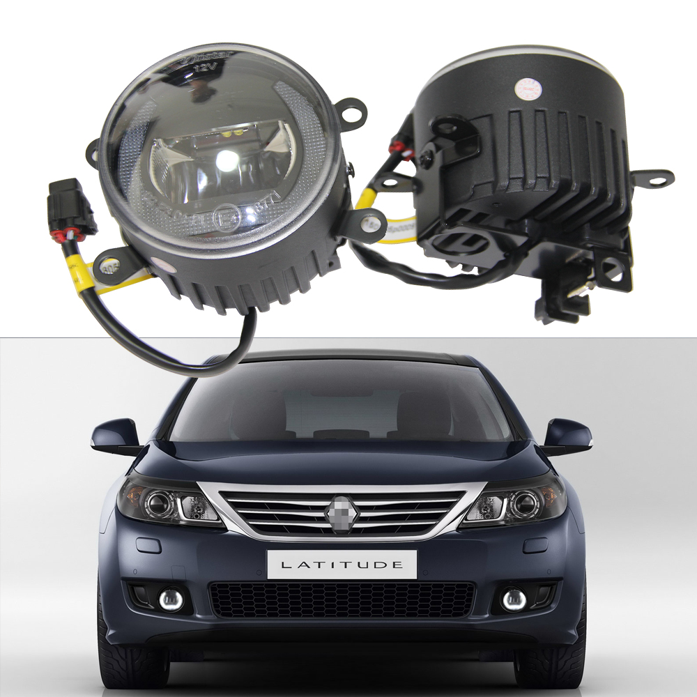 1 Pair 12V Canbus LED Fog Light Lamp for Renault Laguna II 2005- Megane II 2002- Clio III 12V Led Drl Daytime running Light kit купить