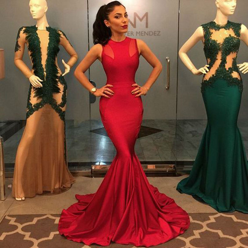 High Quality Red Mermaid Prom Dress-Buy Cheap Red Mermaid Prom ...