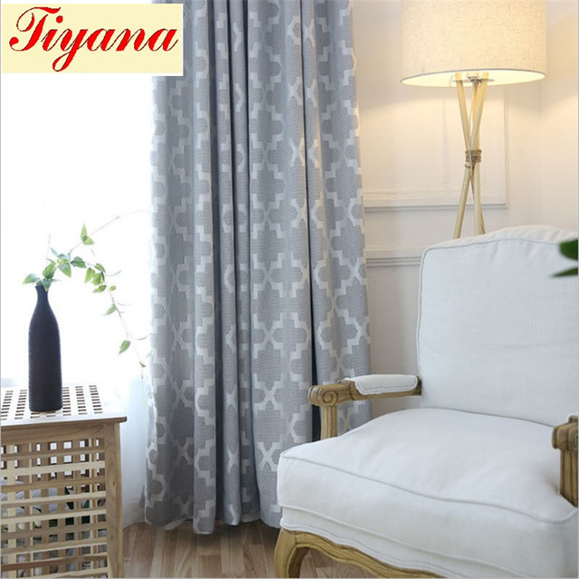 european grey pink blackout curtain living room decoration bedroom balcony wholesale solid geometric curtain blind su140