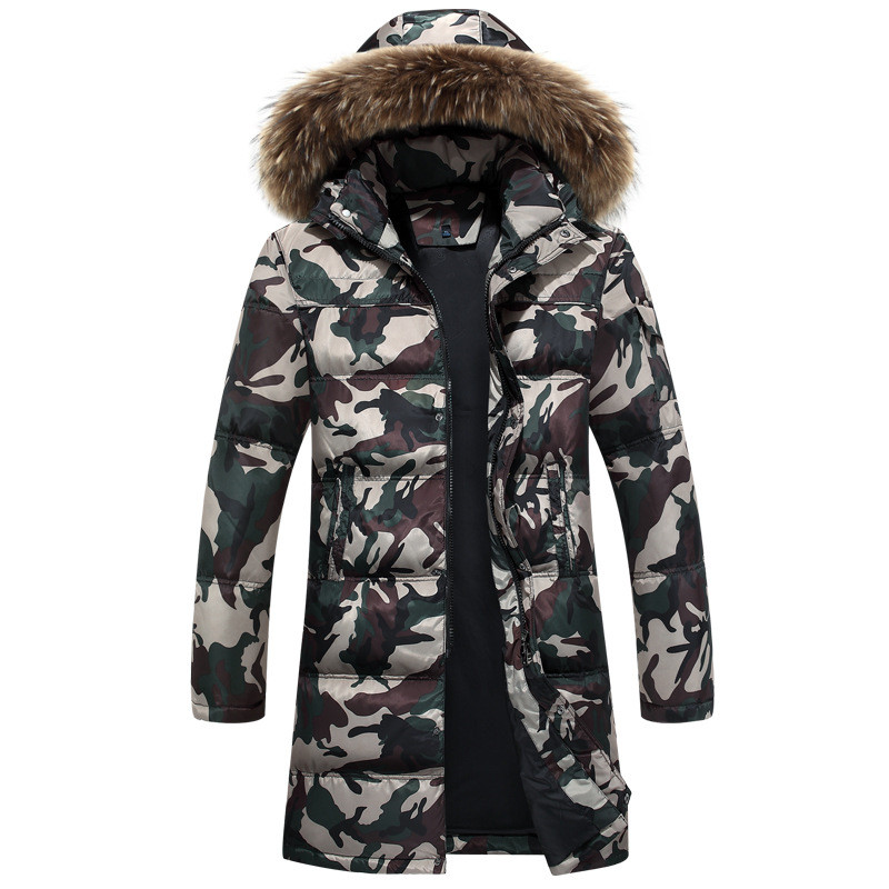 2016 New European Style Winter Men Long Down Jacket Hooded Windproof And Waterproof Thick Warm Mens Coats Plus Size M-4XL W146