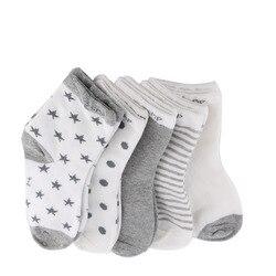 Зима-весна, хит продаж, 5 пар, детские носки с милыми рисунками мягкий хлопковый носок для новорожденных и малышей, удобные носки до лодыжки д...