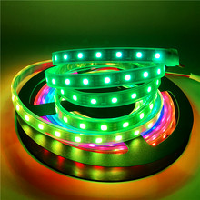 WS2811 30/60Leds/m Pixels 5050 RGB Individually Addressable LED Strip light 12V Full Color Tape Lamp More Beautiful than WS2812B(China)