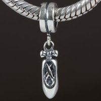 Dancing Shoes Dangle Charm Original 100 Authentic 925 Sterling Silver Beads Fit For DIY Bracelets Necklaces