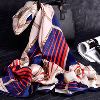2018 High Fashion Silk Women Scarf Luxury Brand New Design Prints 100 Silk Shawls Wraps Soft