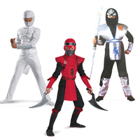 Movie G I Joe The Rise Of Cobra Costumes Storm Shadow Ninja Kids Jumpsuits Mask Cosplay