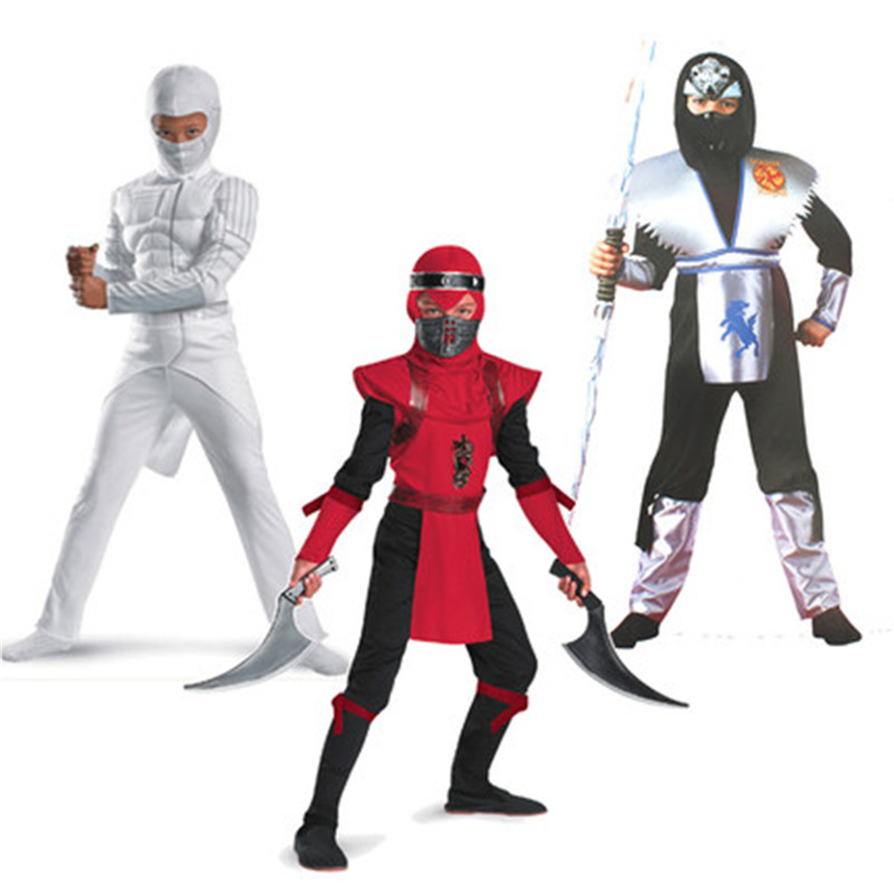 Movie G.I. Joe:The Rise of Cobra Costumes Storm Shadow Ninja Kids Jumpsuits mask Cosplay Costumes for Halloween cosplay costumes