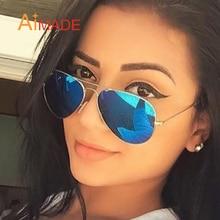 Aimade Classic Oversize Aviation Sunglasses Women Men Retro Brand Designer Driving Big Mirror Pilot Sun Glasses For Female Male