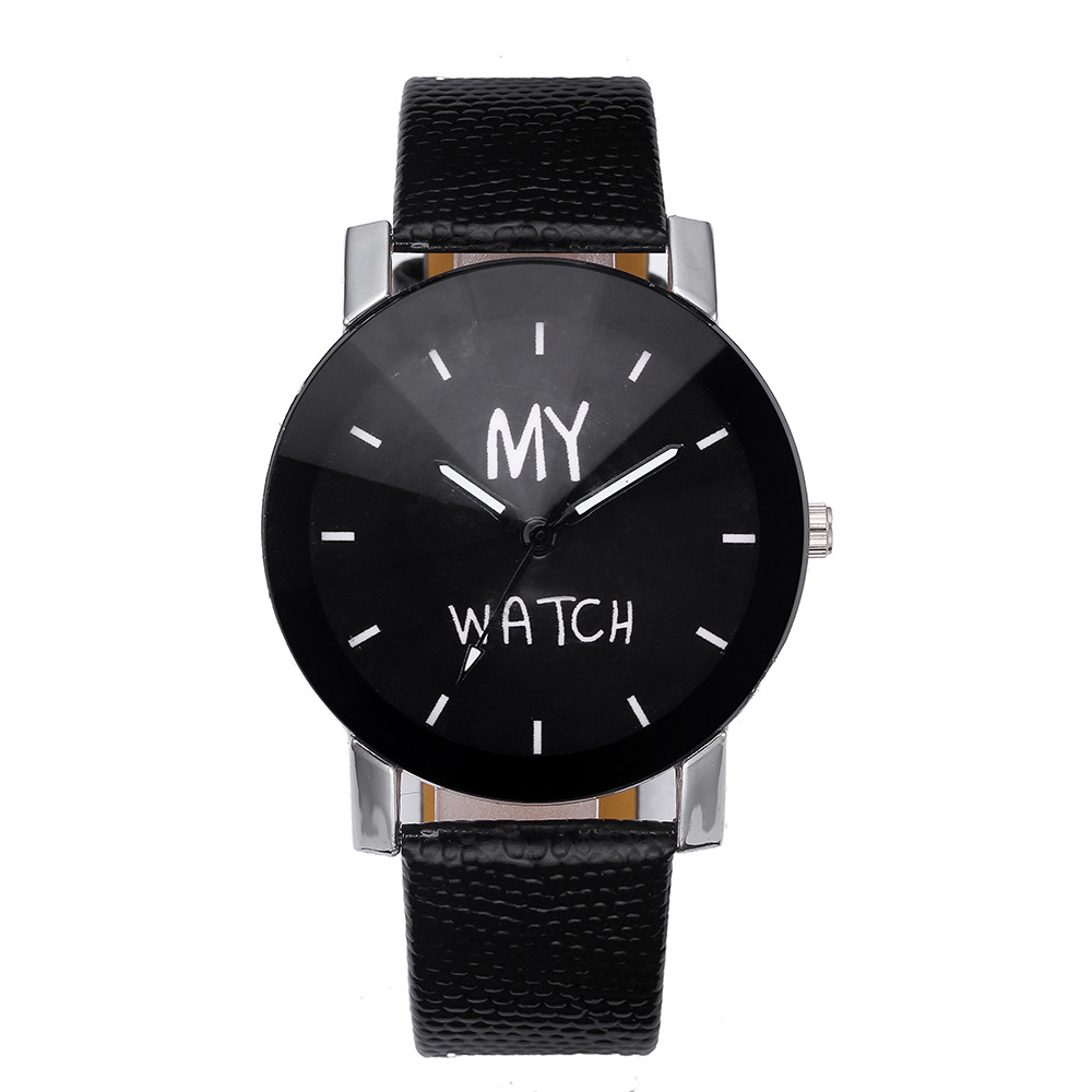Convex Belt Watch Luxury Quartz Sport Military Stainless Steel Dial Leather Band Wrist Watch women watches A.3