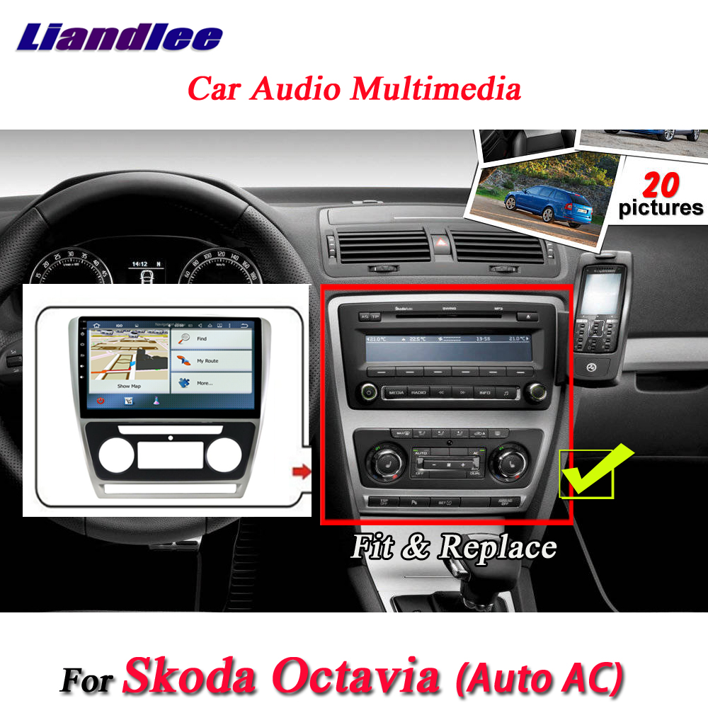 liandlee car android system for skoda octavia auto ac 2010. Black Bedroom Furniture Sets. Home Design Ideas