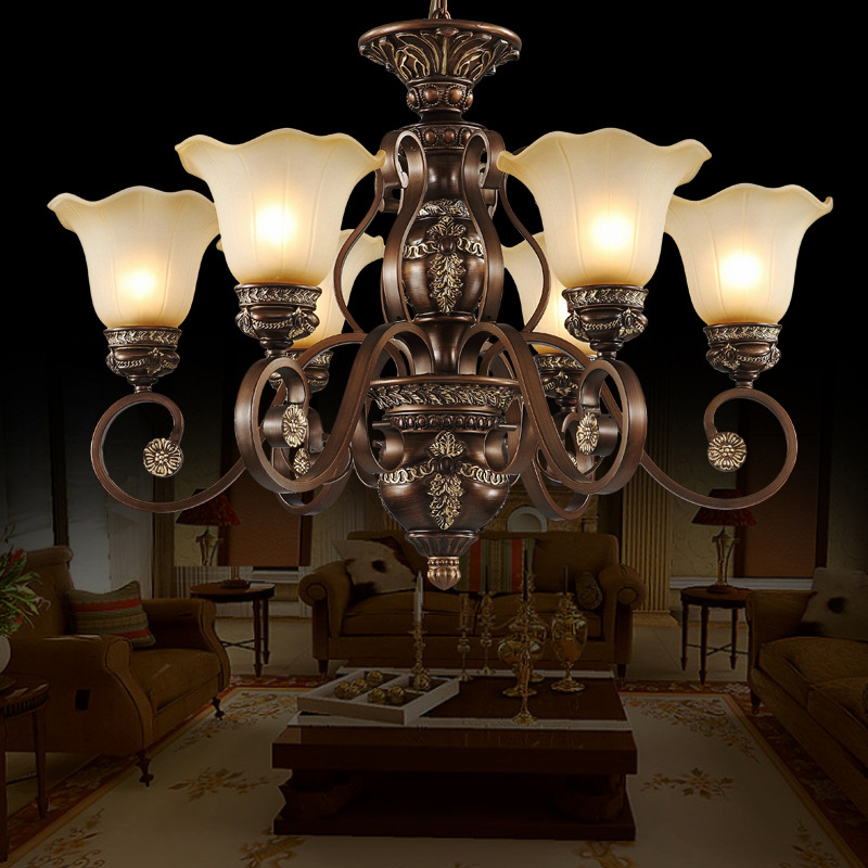 Luxury Europe Resin Chandelier Living Room Light High Quality Hand-painted Pattern Chandelier Lighting polmedia polish pottery 5 inch stoneware bowl h7021e hand painted from cer maz in boleslawiec poland shape s187c 34 pattern p6200a d58