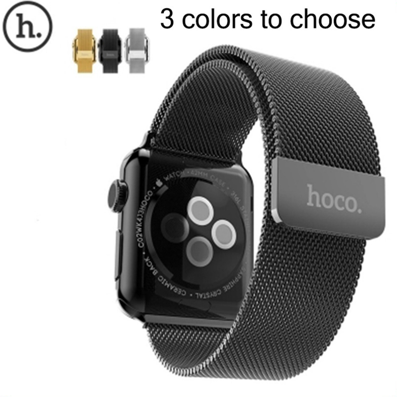 Original HOCO Milanese Loop Strap For Apple Watch 42mm 38mm Made By 316L Stainless Steel With Adjustable Magnetic Closure