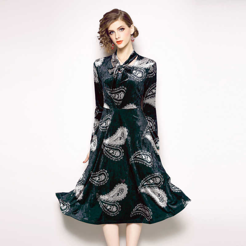 Dames Jurken 2019.Detail Feedback Questions About Retro Lake Blue Midi Winter Dress