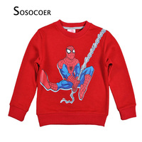 Brand Kids Boys T Shirt Cartoon Spider Man Long Sleeve T Shirt For Boy Kids Clothes