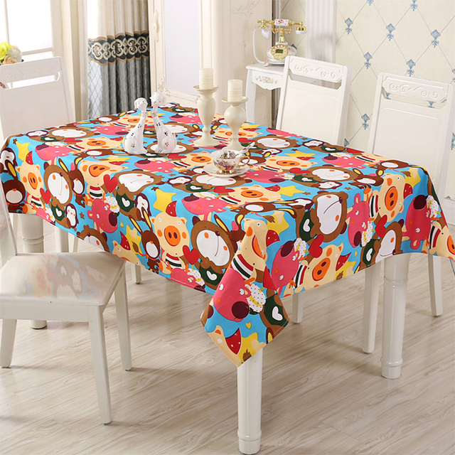Cartoon linen tablecloth one table kitchen table cloth rectangular cartoon linen tablecloth one table kitchen table cloth rectangular tablecloths for wedding dining table cover party workwithnaturefo