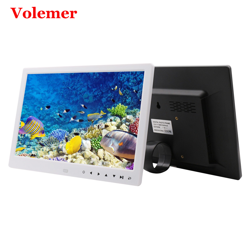 Volemer 12 Inch Digital Photo Frame HD 1280*800 Touch button LED Video Display Playback Electronic Album Picture Music MP4 10 inch tft screen led backlight hd digital photo frame electronic album picture music mp3 video mp4 porta retrato digit