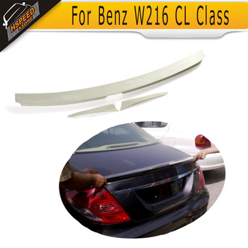 FRP Unpainted Auto Car Rear Trunk Lip Spoiler Wings For Benz W216 CL Class
