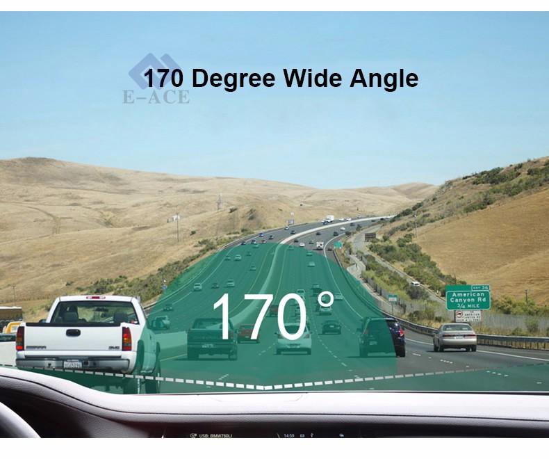 E-ACE Car Dvr WIFI DVRs Dual Camera Lens Registrator Dashcam Digital Video Recorder Camcorder Full HD 1080P 30FPS Night Version 11