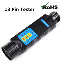 1 piece 12V 13 Pin Trailer Lamp Connector Tester  tuck lorry camp Towing Electrical male Plug  Caravan female Socket Plastic
