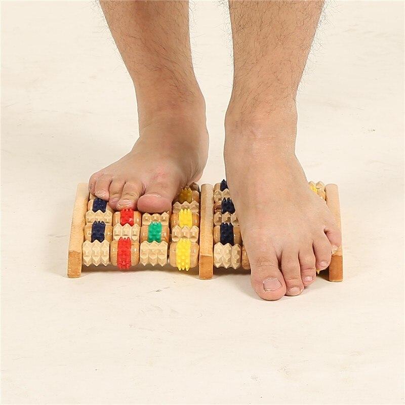 Wooden Foot Roller Massager Reflexology for Stress Fitness Health care Feet  massager