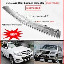 Автомобильный задний багажник порога Накладка заднего бампера протектор для GLK класс GLK350 4matic GLK260 200 GLK300, металлические пряжки самого лучшего качества, низкая прибыль