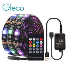 USB LED Strip with RF Remote Music controller IP20/IP65 Flexible Strip Light 5050 RGB TV Background Lightgting