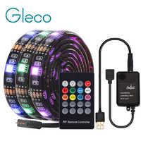 USB LED franja de con RF control remoto controlador de música IP20/IP65 Flexible tira de luz RGB 5050 Fondo de Televisión Lightgting