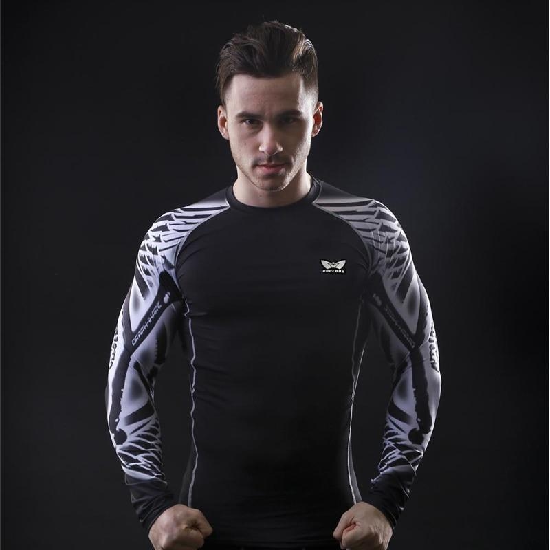 Männer Kompressions-T-Shirts MMA Rashguard Fit halten Fitness Kurze - Herrenbekleidung - Foto 1