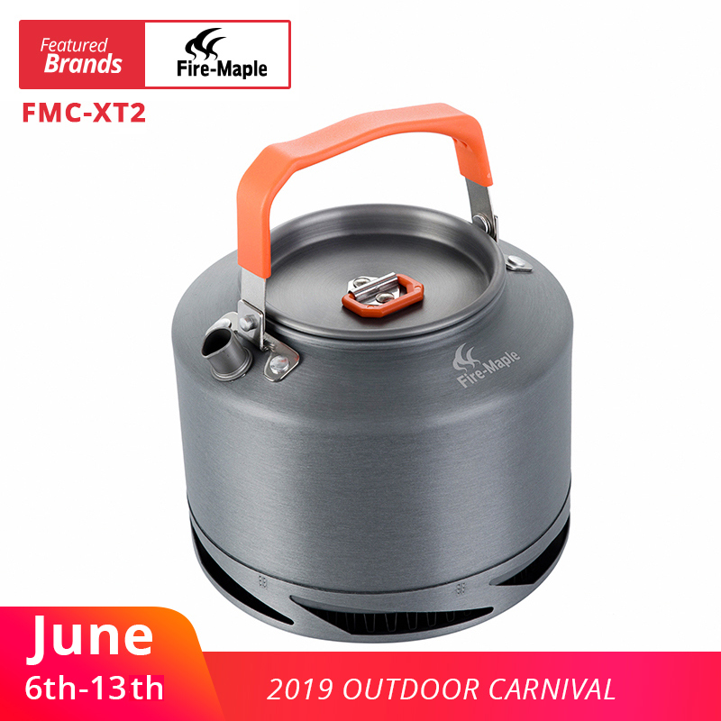 Fire Maple Hiking Kettle Outdoor Camping Cookware Heat Exchange Pinic Kettle Tea Coffee Pot 1.5L With Filter FMC-XT2Fire Maple Hiking Kettle Outdoor Camping Cookware Heat Exchange Pinic Kettle Tea Coffee Pot 1.5L With Filter FMC-XT2