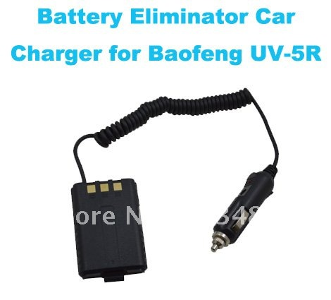 12V Battery Eliminator Car Charger For Baofeng UV-5R With Battery Case