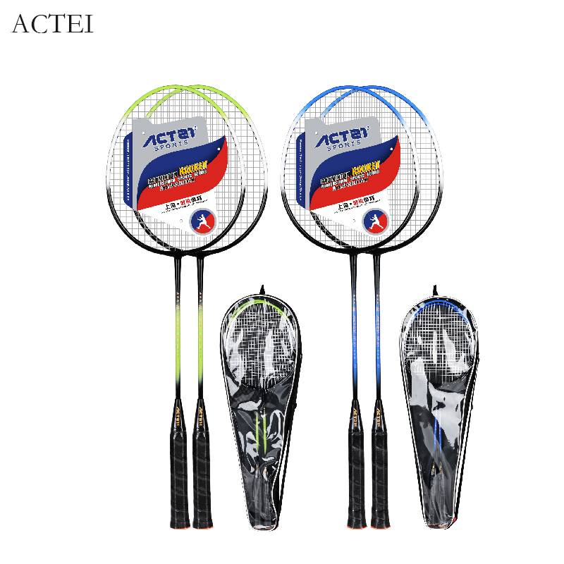 ACTEI BR200 28lbs Iron Alloy Badminton Racket 0.63mm Line Diameter Suitable For Amateur Middle And Senior Players