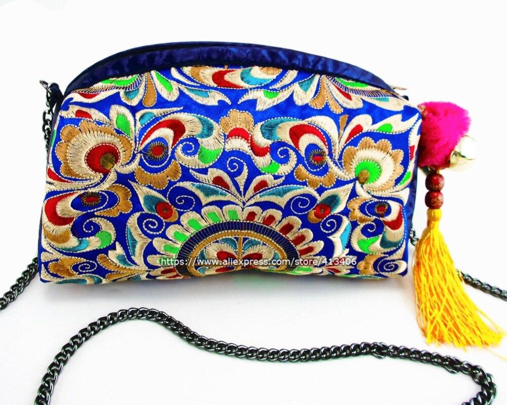 Vintage PU Koža Hmong Plemenski Etnički Tajlandski Boho torba za - Torbe - Foto 2