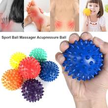 PVC Spiky Massage Ball Foot Back Massage Ball Pain Relief Muscle Relax Tool Portable physiotherapy ball(China)