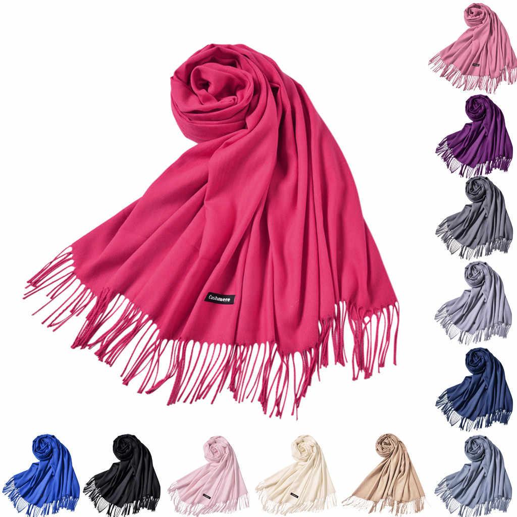 Cachecóis femininos vestido de noite xale de casamento cor sólida festa xale cachecol feminino envoltório moda cachecóis foulard femme #30 30 30 #30