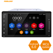 FEELDO 7 Short Case Android 6 0 Quad Core font b Car b font With GPS