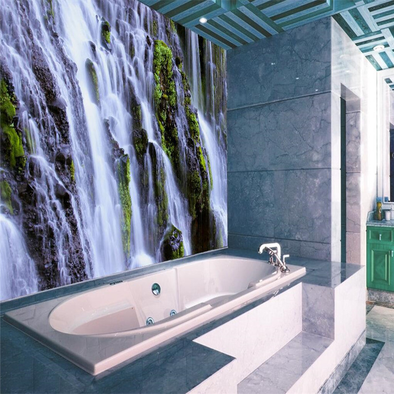 3d Wallpaper Home Decor Photo Background Waterfall Landscape