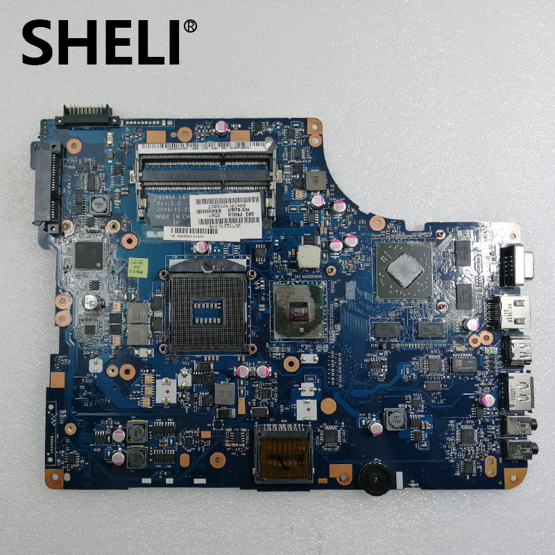 SHELI For <font><b>Toshiba</b></font> Satellite <font><b>L500</b></font> L505 Laptop Motherboard HM55 DDR3 HD4500 Free cpu K000093130 NSWAA LA-5322P image